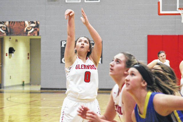 Glenwood's Lexus Oiler had a team high 22 points in the Tigers home loss to Clay Thursday night.