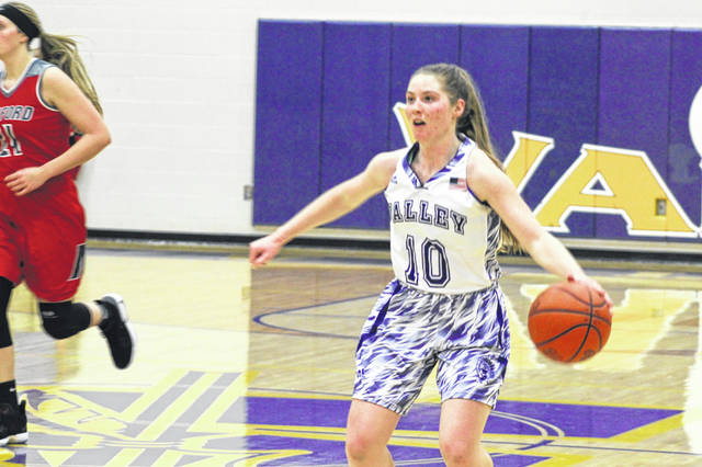 Valley junior Bre Call led the Indians in scoring Monday night with a team high 15 points in their home loss to Minford.