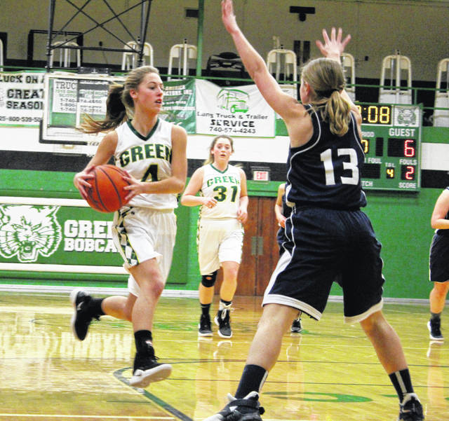 Green's Kasey Kimbler hit 11 3-point field goals Saturday afternoon in the Bobcats' win over Hannan (WV).