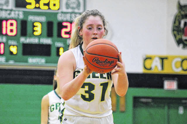 Green sophomore Kame Sweeney's layup with 10 seconds left in Monday night's game helped her team seal the deal against Symmes Valley.