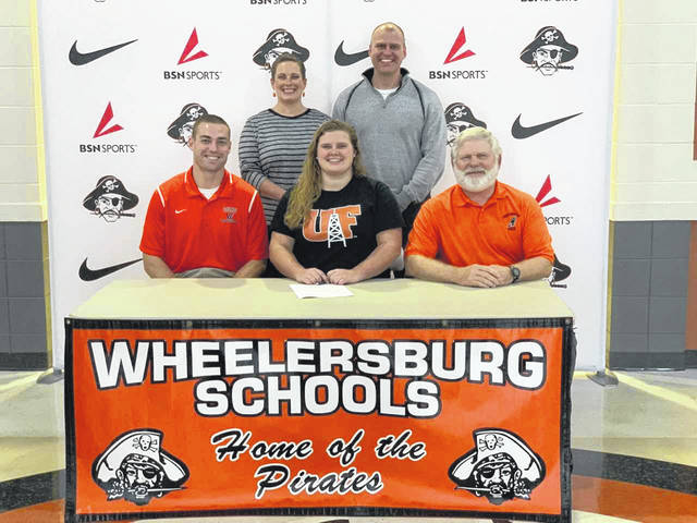 Wheelersburg senior Paige Emnett signed her letter of intent with the University of Findlay on Thursday afternoon at WHS.