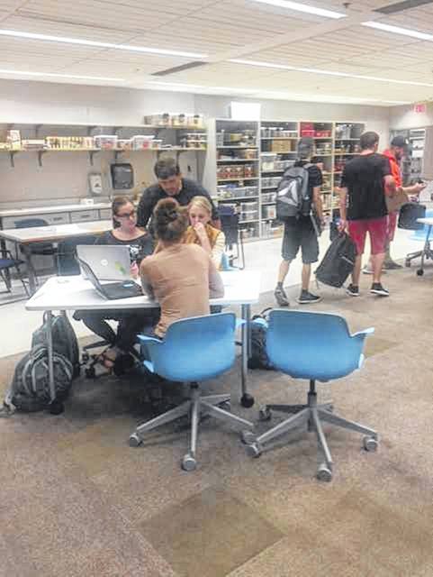 Students at the Clark Memorial Library at Shawnee State University.