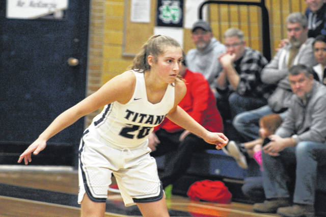 Notre Dame's Isabel Cassidy led the Titans with a team high 11 first half points in their home contest on Monday against Valley.