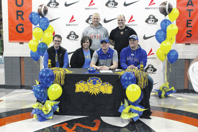 Wheelersburg senior Jalen Miller signed his letter of intent to play collegiate football at Morehead State University Wednesday afternoon.