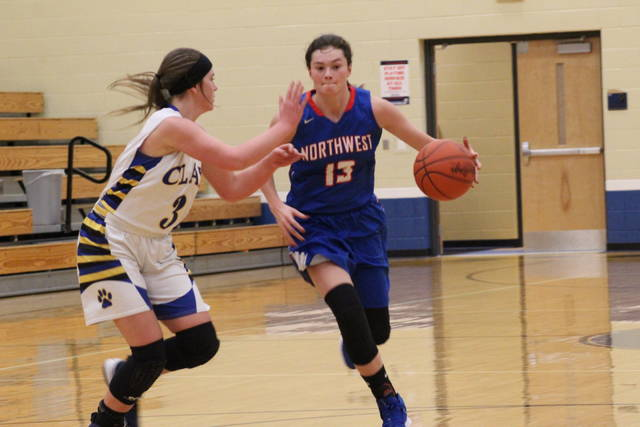 Northwest sophomore Haidyn Wamsley led the Mohawks with a game high 13 points in their road win over Clay on Monday.