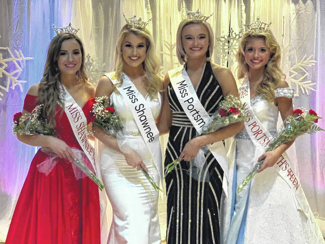 Left to Right: Madison DeFrank-Miss Shawnee's Outstanding Teen 2019, Grace Brown-Miss Shawnee 2019, Baylee Martin-Miss Portsmouth 2019, and Kylan Darnell-Miss Portsmouth's Outstanding Teen 2019.