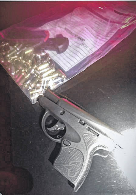 The gun allegedly used by the suspect during a hostage situation in Pike County earlier this week.