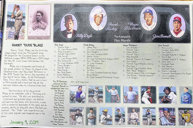 This placemat will be given to each of the attendees of the 2019 Portsmouth Murals Baseball Banquet held on January 9th at the SOMC Friends Community Center.