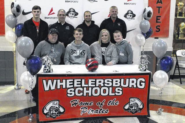 Wheelersburg senior Cameron Llewellyn signed his letter of intent to play soccer and attend Shawnee State University.
