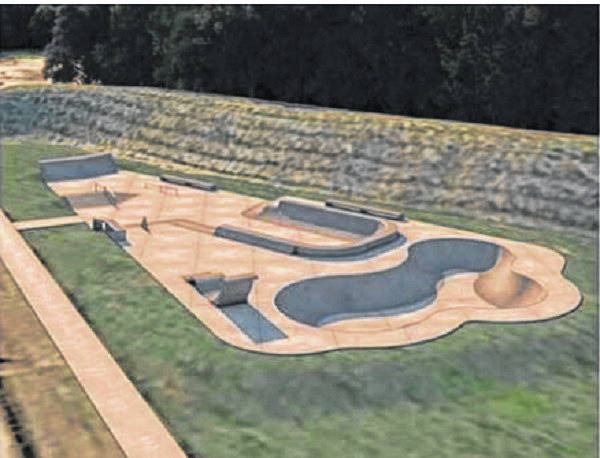 Artist renditions of the proposed Portsmouth skateboard park.