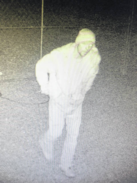 The Scioto County Sheriff's Office supplied these photos of the person possibly responsible for thefts from several local power stations. The vehicle pictured is thought to have been used in the crimes. Any one with any information is asked to contact the sheriff's office.