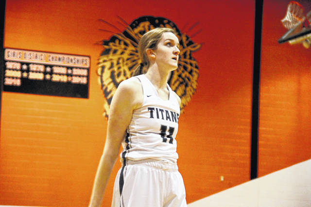 Notre Dame's Katie Dettwiller was held to six points during Saturday's 34-27 loss to Waynesville.