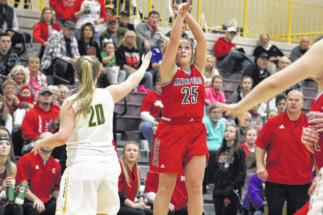 Minford's Hannah Tolle scored 13 points in Saturday's 60-55 win over North Adams at Valley High School.