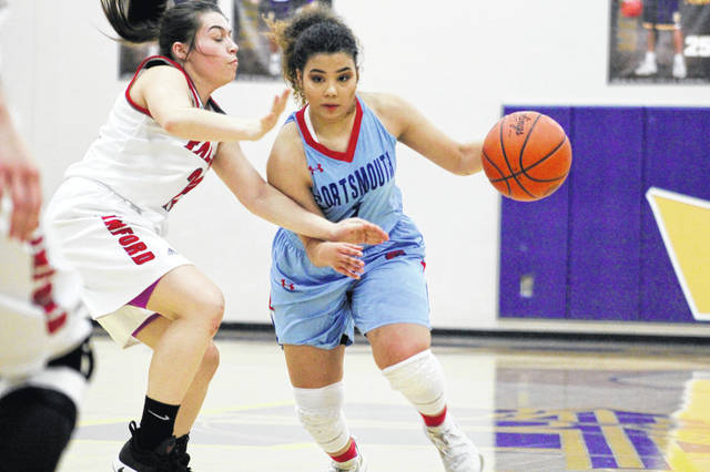 Portsmouth's Jasmine Eley led all scorers with 18 points in Monday's 50-36 loss to Minford.