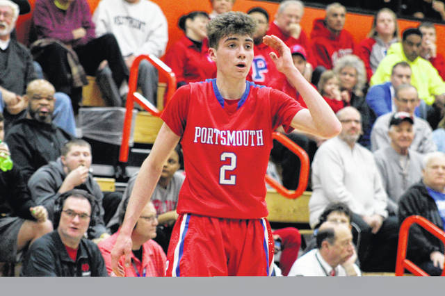 Portsmouth's Matthew Fraulini scored a game-high 20 points in Friday's 57-54 loss to Adena in a Division III sectional final at Waverly's Downtown Arena.