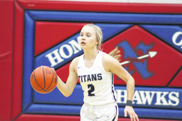 Notre Dame junior guard Taylor Schmidt had a game high eight steals in the Titans 57-15 win over New Boston Thursday night.