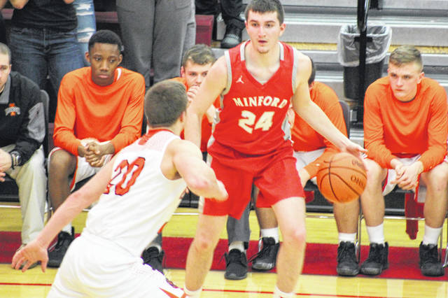 Minford senior Cameron Dalton finished with seven points in the Falcons sectional semifinal loss to Ironton.