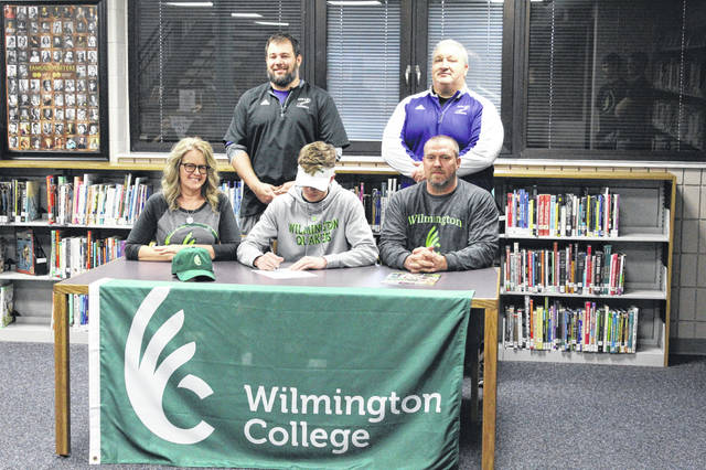 Valley senior Tanner Spradlin signed his letter of intent with Wilmington College Wednesday afternoon at Valley High Schoool.
