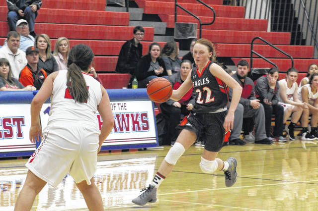 Eastern freshman Abby Cochenour finished with a game high 36 points in the Eagles sectional loss to New Boston Monday night.