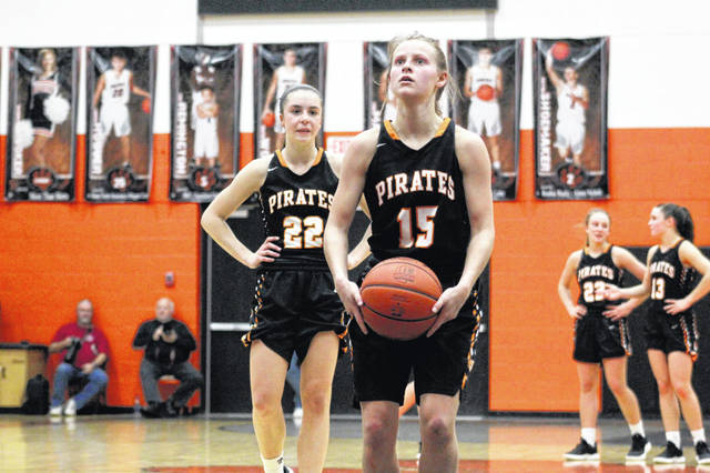 Wheelersburg's Lani Irwin was instrumental in Saturday's 55-45 overtime win over Fairland, on the defensive end of the floor.