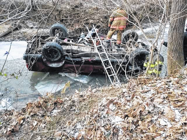 The 1997 Ford F-150 belonging to Catherine Havel was involved in a roll over crash that took place on Crabtree Hollow Road in Lawrence County on Thursday.