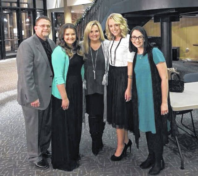 Karen Peck Gooch is pictured with the family of Dee Dee Duduit at the 2018 event. From left are Dee Dee's husband Blaine, daughter Grace, Karen, and daughters Brittany and Ashley.