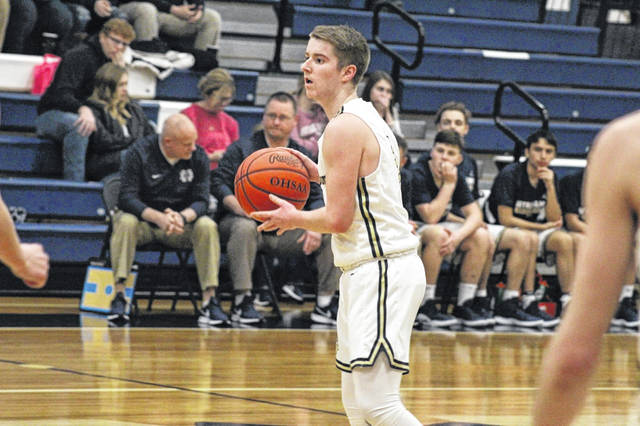 Notre Dame senior Cole Harrell finished with five points in the Titans home win over Rose Hill (Ky.) Saturday.