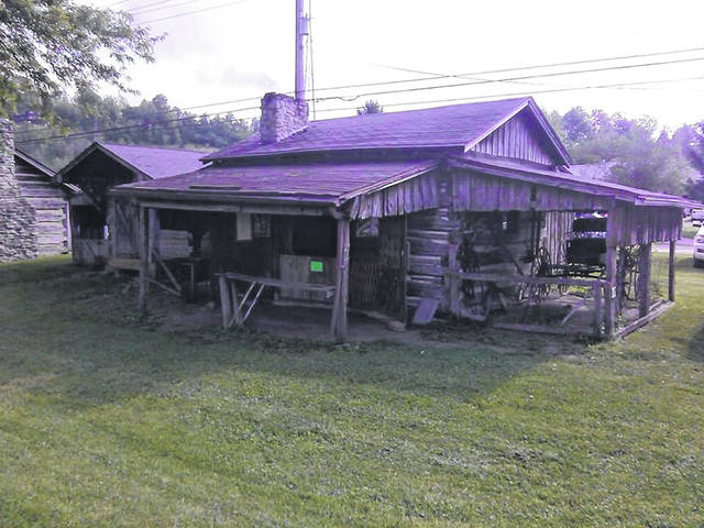 A section of the Pioneer Village in Wheelersburg