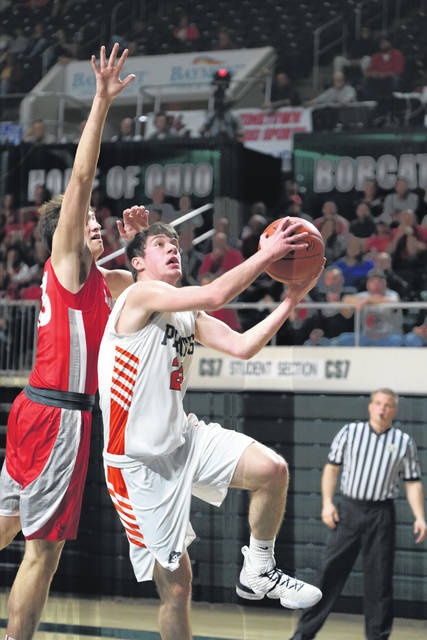 Wheelersborg sophomore J.J. Truitt scored six points and snagged four rebounds in the Pirates regional semifinal win over Sandy Valley.