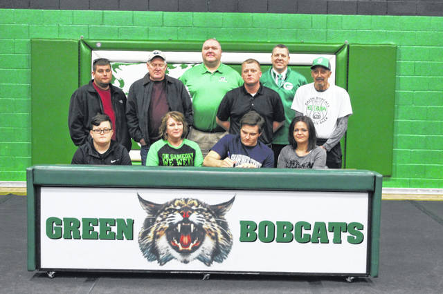 Green senior Bryce Ponn signed his letter of intent to attend and play collegiate baseball at Shawnee State University Friday afternoon.