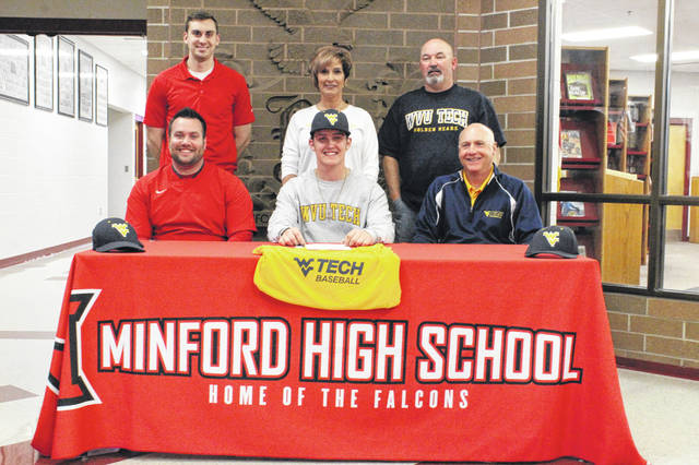 Minford senior Luke Lindamood signed his letter of intent Monday to play collegiate baseball at West Virginia University Institute of Technology in Beckley, West Virginia beginning next spring.