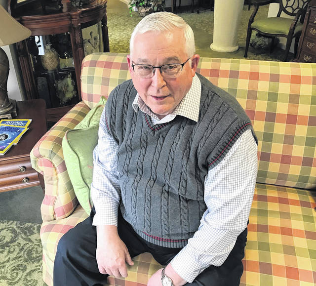 Now retired, former ER physician Dr. Wayne Wheeler relaxes in his Portsmouth home.