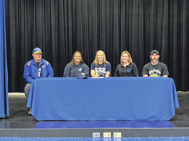 Clay senior Hannah Oliver signed her letter of intent to play softball at Shawnee State University on Monday.