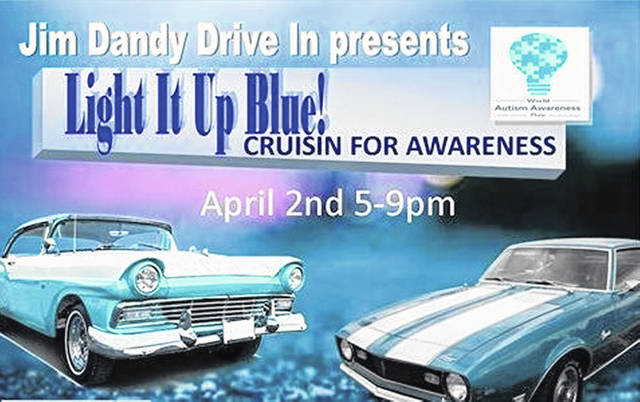 Autism Cruize-In at Jim Dandy Drive-In Tuesday, April 2, 2019 from 5-9 p.m.