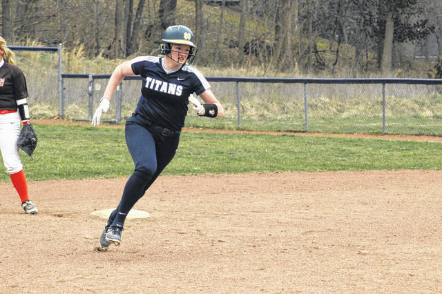 Notre Dame sophomore Claire Dettwiller's lone RBI helped push the Titans past Ironton in non-league play.
