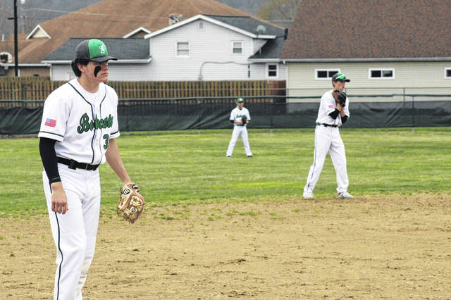 Green senior Bryce Ponn (left) cranked a home run and a season high six RBI in the Bobcats win over South Webster Tuesday while teammate Tanner Kimbler (right) drove in two runs while earning a win on the mound.