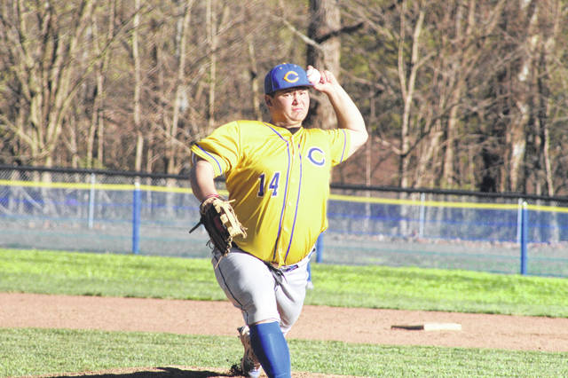 Clay junior Dakota Dodds pitched a complete game shutout in the Panthers big win over SOC I rival Green Tuesday.