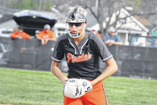 Wheelersburg junior Sydney Spence pitched a no-hitter in the Pirates win over Valley Tuesday night.
