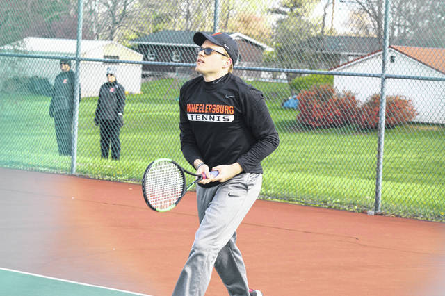 Wheelersburg senior Drew Jackson defeated Minford's Parker Jacobs in straight sets Monday.