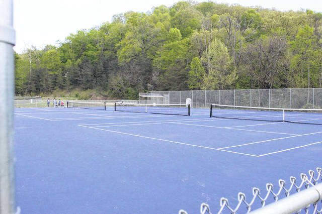 These newly built tennis courts in Rosemount are home to the Clay Panthers tennis team.