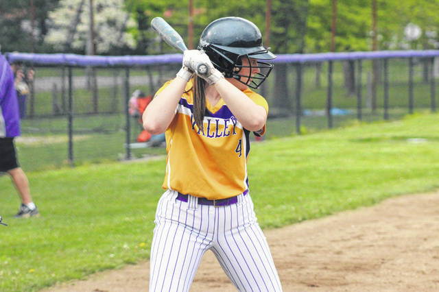 Valley junior Brooklyn Buckle drove in two RBI in the Indians 10-0 win over West Union.