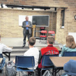 Johnson speaks to students at South Webster