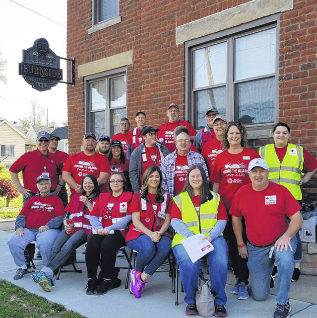 Last year's volunteers for the American Red Cross 'Sound the Alarm'.