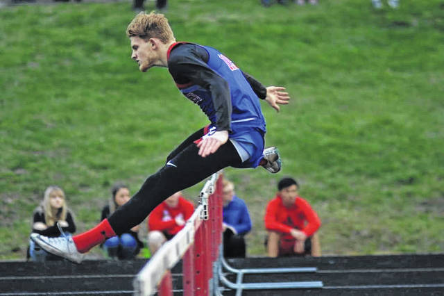Northwest senior Chase McClay finished first in three different events at Friday's Minford Invitational track meet.