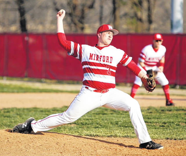 Minford's Ethan Lauder has been electric on the mound this season. The senior says the key to his success has been letting his defense work behind him.