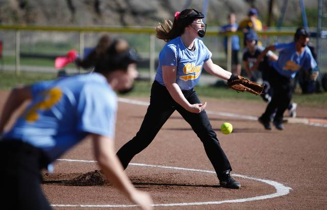 Clay's Preslee Lutz is 11-1 in the pitcher's circle this season.