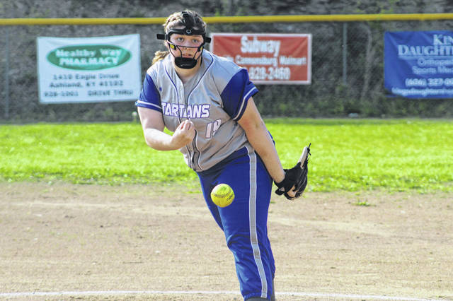 East pitcher Felicia Smith delivers a pitch in the Tartans loss to Fairview Tuesday.