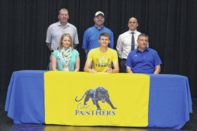 Clay senior Tyler Hobbs signed his letter of intent to join the Shawnee State University golf team next season at his signing ceremony Friday afternoon.