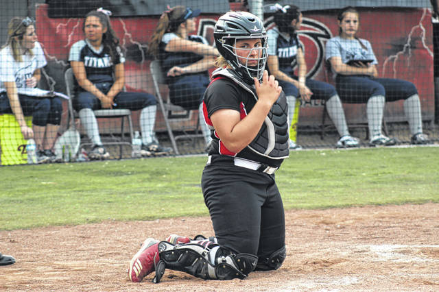 South Webster sophomore Emma Bailey had one of the three Jeep hits in their loss to Notre Dame.
