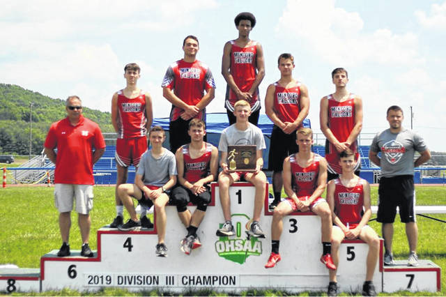Minford's boys track team secured a district championship at the Division III district meet held at Southeastern High School Saturday.